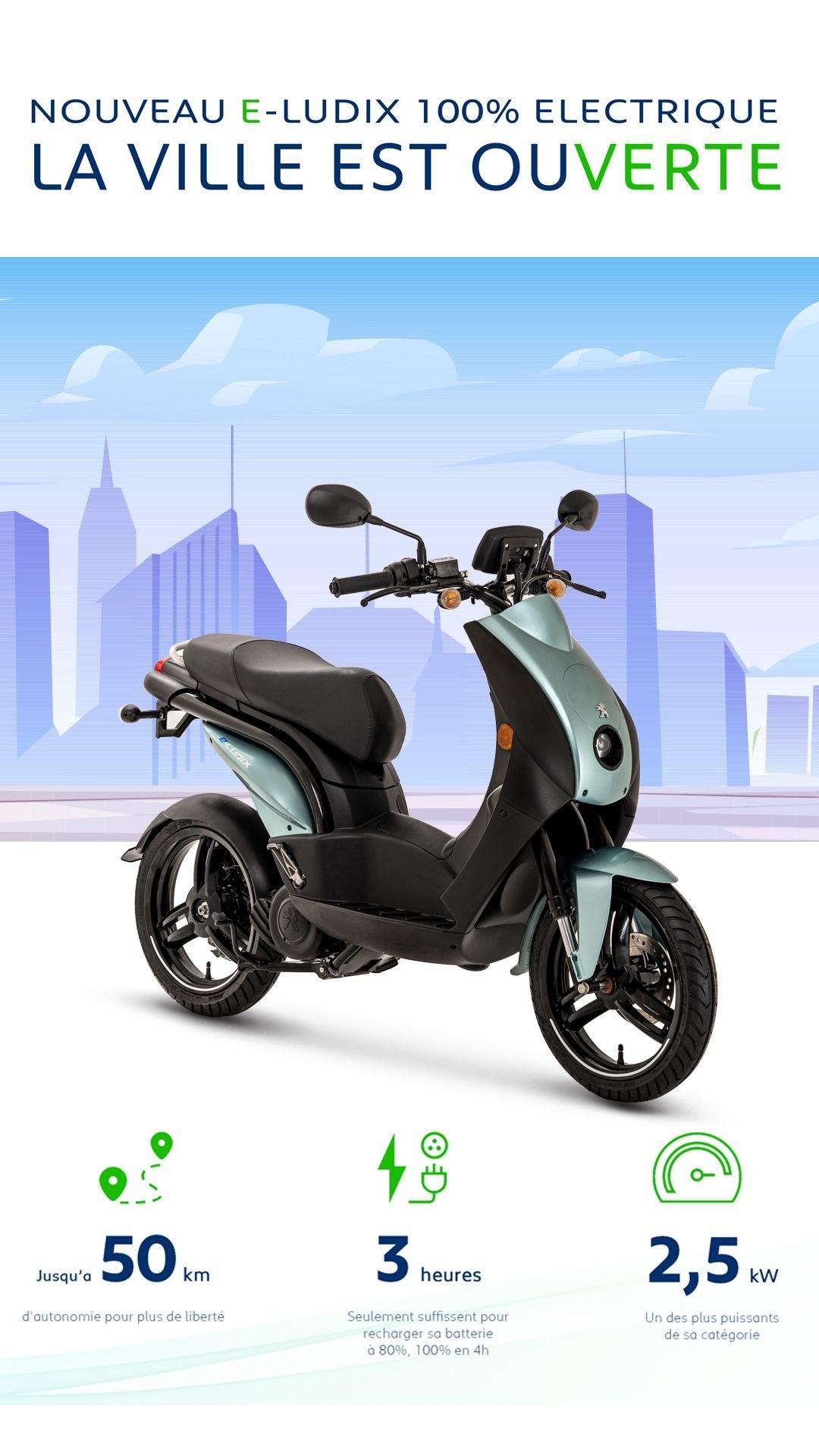 [News] Peugeot e-ludix 100% électrique