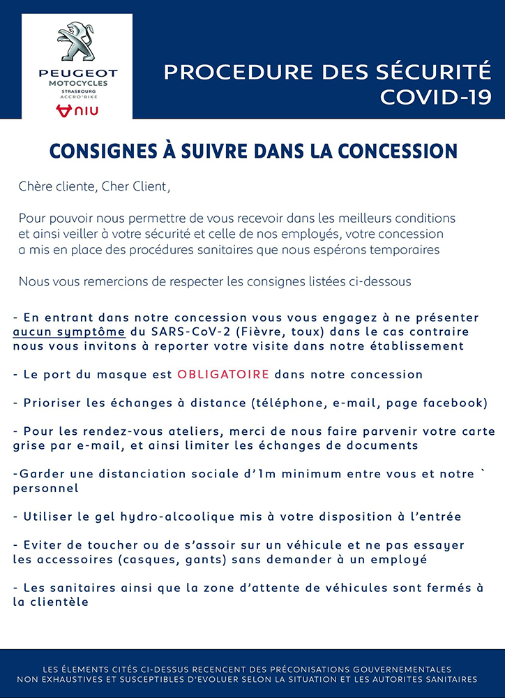 [Maj] Informations re-ouverture covid-19
